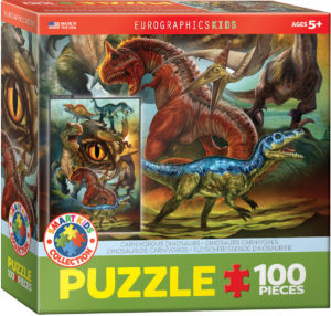 6100-0359-Carnivorous Dinosaurs- Item# 6100-0359 - Puzzle size 19x13 in