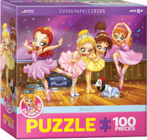 6100-0414-Go Girls Go! Ballet- Item# 6100-0410 - Puzzle size 19x13 in