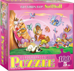 6100-0416-Go Girls Go! Softball- Item# 6100-0416 - Puzzle size 19x13 in