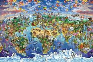 ER6806 MAP WORLD WONDERS-Maria Rabi
