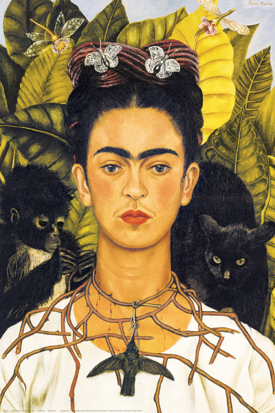 self portrait with thorn necklace and hummingbird frida kahlo athena posters. Black Bedroom Furniture Sets. Home Design Ideas