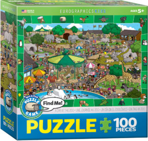 6100-0542-A Day in the Zoo- Item# 6100-0542 - Puzzle size 19x13 in