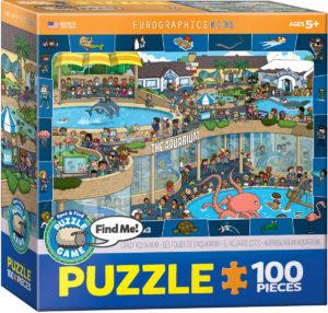 6100-0543-Crazy Aquarium- Item# 6100-0543 - Puzzle size 19x13 in