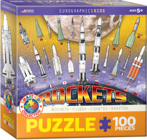 6100-1015-International Space Rockets- Item# 6100-1015 - Puzzle size 19x13 in