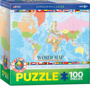 6100-1271-Modern Map of the World - Item# 6100-1271 - Puzzle size 19x13 in