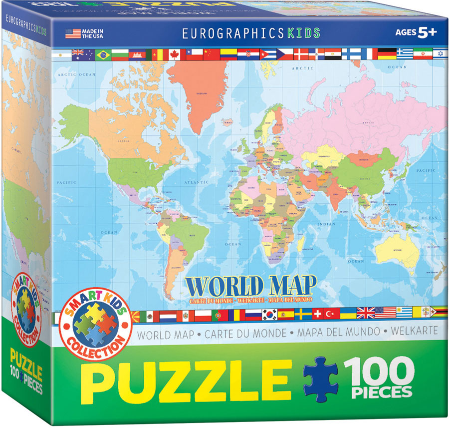modern map of the world 100 piece puzzle athena posters