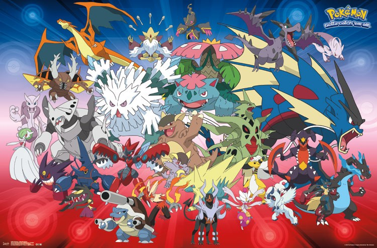 Pok mon mega evolutions athena posters - Pokemon xy mega pokemon ...