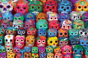 2400-5316 Traditional Mexican Skulls