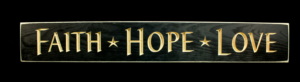 WS9012BL-Faith Hope Love – 2' Sign – Black