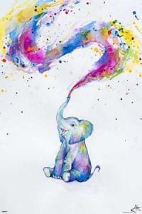 ER7632 Elephant Paint Splash