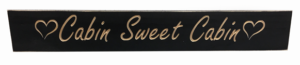 WS9007BL-Cabin Sweet Cabin – 2′ Sign – Black