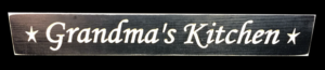 WS9017BL-Grandma's Kitchen – 2′ Sign – Black