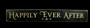 WS9018BL-Happily Ever After – 2′ Sign – Black