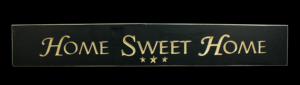 WS9019BL-Home Sweet Home – 2′ Sign – Black