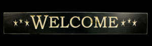 WS9041BL-Welcome – 2′ Sign – Black