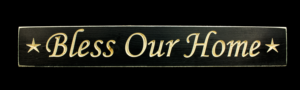 WS9054BL-Bless Our Home – 2′ Wooden Sign – Black