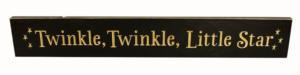 WS9070BL-Twinkle, Twinkle Little Star – 2′ Sign – Black