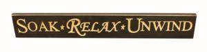 WS9100BL-Soak Relax Unwind – 2′ Sign – Black