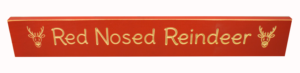 WS9062RD-Red Nosed Reindeer – 2′ Sign – Red