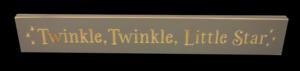 WS9070GRY-Twinkle, Twinkle Little Star – 2′ Sign – Grey