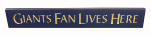 WS9071BLU-Giants Fan Lives Here – 2′Sign – Blue