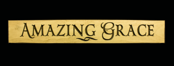 WS9092CR-Amazing Grace – 2′ Wooden Sign – Cream