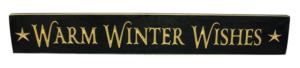 WS9098BL-Warm Winter Wishes-2' Sign-Black