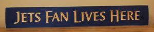 WS9125BLU-Jets Fan Lives Here – 2′ Sign – Blue