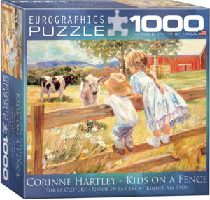 8000-0450 Kids on a Fence - Item# 8000-0450 - Puzzle size 19.25x26.5 in