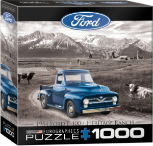8000-0668-1954 Ford F-100 Heritage Ranch- Item# 8000-0668 - Puzzle size 19.25x26.675 in