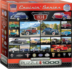 8000-0674-1930's Cruisin' Classics-Item# 8000-0674 Puzzle Size 26.625x19.25 in