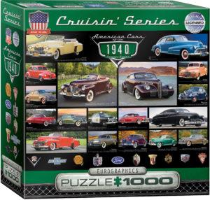 8000-0675-1940's Cruisin' Classics-Item# 8000-0675- Puzzle Size 26.625x19.25 in