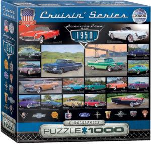 8000-0676-1950's Cruisin' Classics-Item#8000-0676-Puzzle Size 26.625x19.25 in