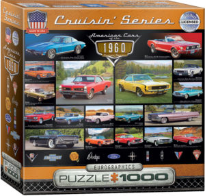 8000-0677-American Cars of the 1960s- Item# 8000-0677 - Puzzle size 19.25x26.675 in