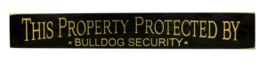 WS9162BL-Bull Dog Security – 2′ Sign – Black