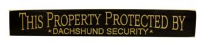 WS9164BL-Dachshund Security – 2′ Sign – Black