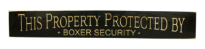 WS9165BL-Boxer Security – 2′ Sign – Black