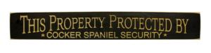 WS9169BL-Cocker Spaniel Security – 2′ Sign – Black
