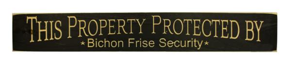 WS9172BL-Bichon Frise Security – 2′ Sign – Black