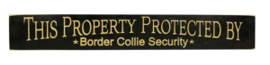 WS9178BL-Border Collie Security – 2′ Sign – Black
