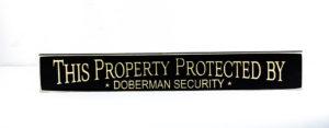 WS9182BL-Doberman Security – 2′ Sign – Black