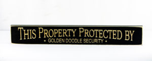 WS9183BL-Golden Doodle Security – 2′ Sign – Black