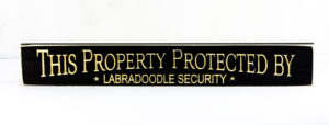 WS9184BL-Labradoodle Security – 2′ Sign – Black