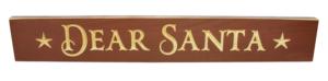 WS9205BG-Dear Santa – 2′ Sign – Burgundy