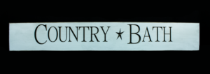 WS9206CB-Country Bath – 2′ Sign – Country Blue
