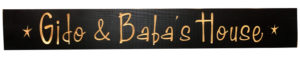 WS9302BL-Gido & Baba's Home – 2′ Sign – Black