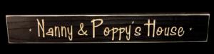 WS9314BL-Nanny & Poppy's House – 2′ Sign – Black