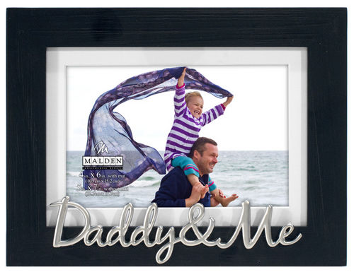Daddy And Me - Black Distressed Frame With White Mat 4x6 or 5x7 ...