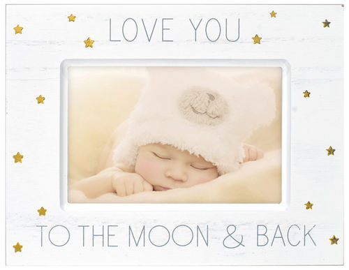 Love You To The Moon And Back - 4x6 White Photo Frame - Athena Posters
