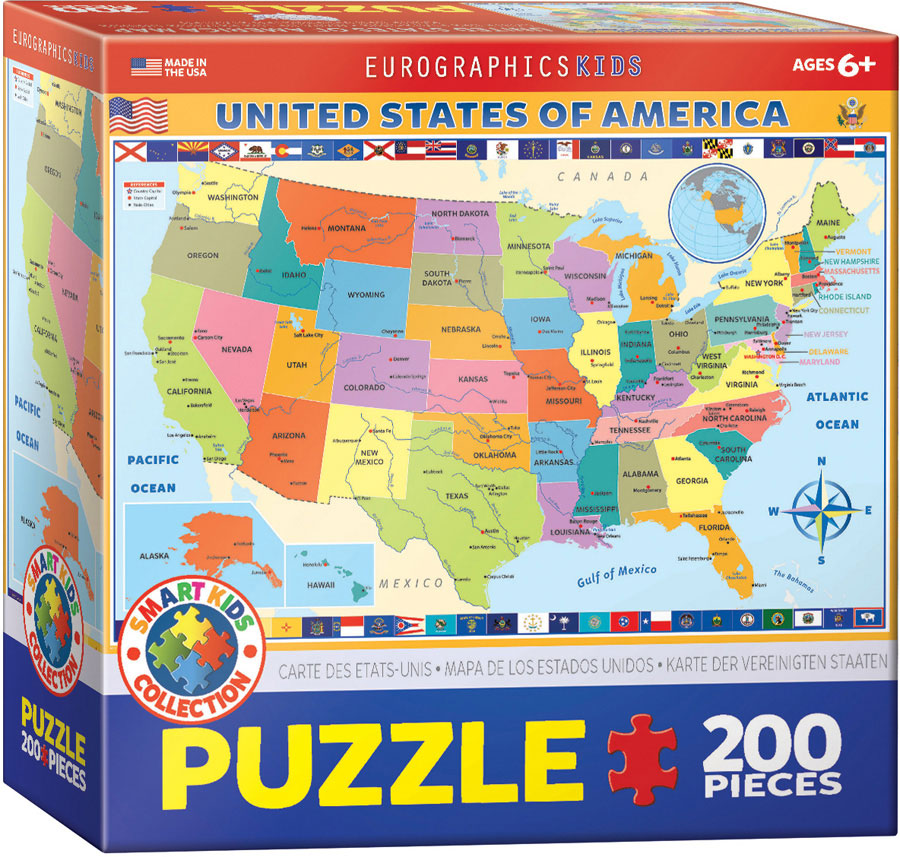 Map Of The Us Puzzle Athena Posters - Map-of-us-puzzle